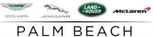 Aston Martin, Jaguar, Land Rover and McLaren logos over Palm Beach text