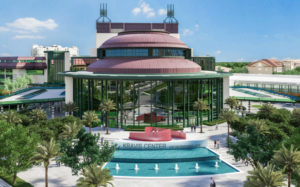 A Rendering of the new front plaza of the Kravis Center in the daytime