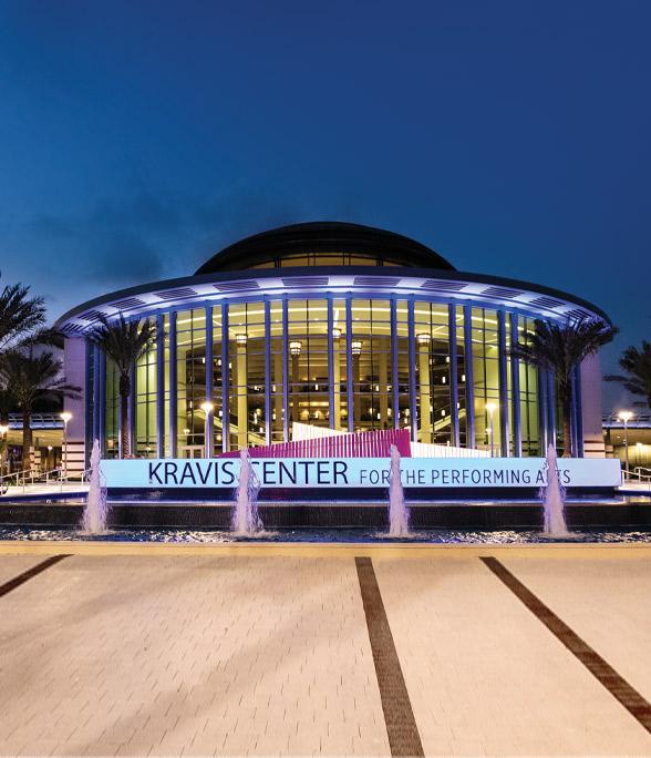 Kravis Center at night.