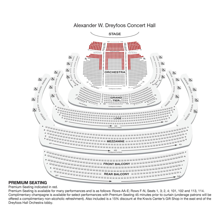 Alexander W. Dreyfoos Concert Hall - Premium