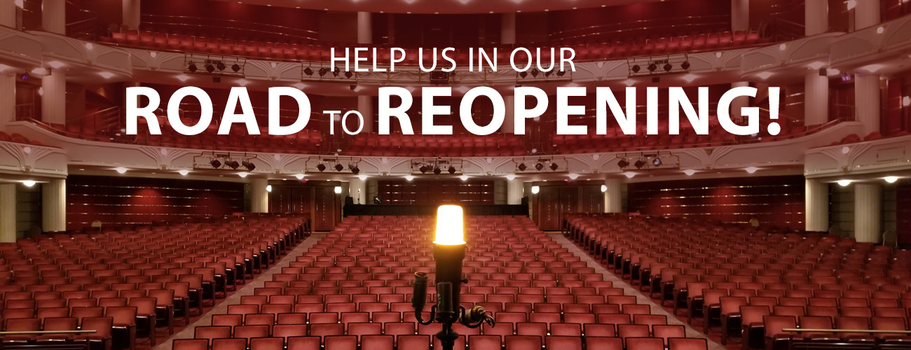 Your donation can ensure that the curtain will rise again.