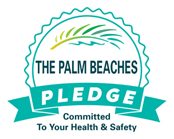 The Palm beaches Pledge comitted to your health and safety
