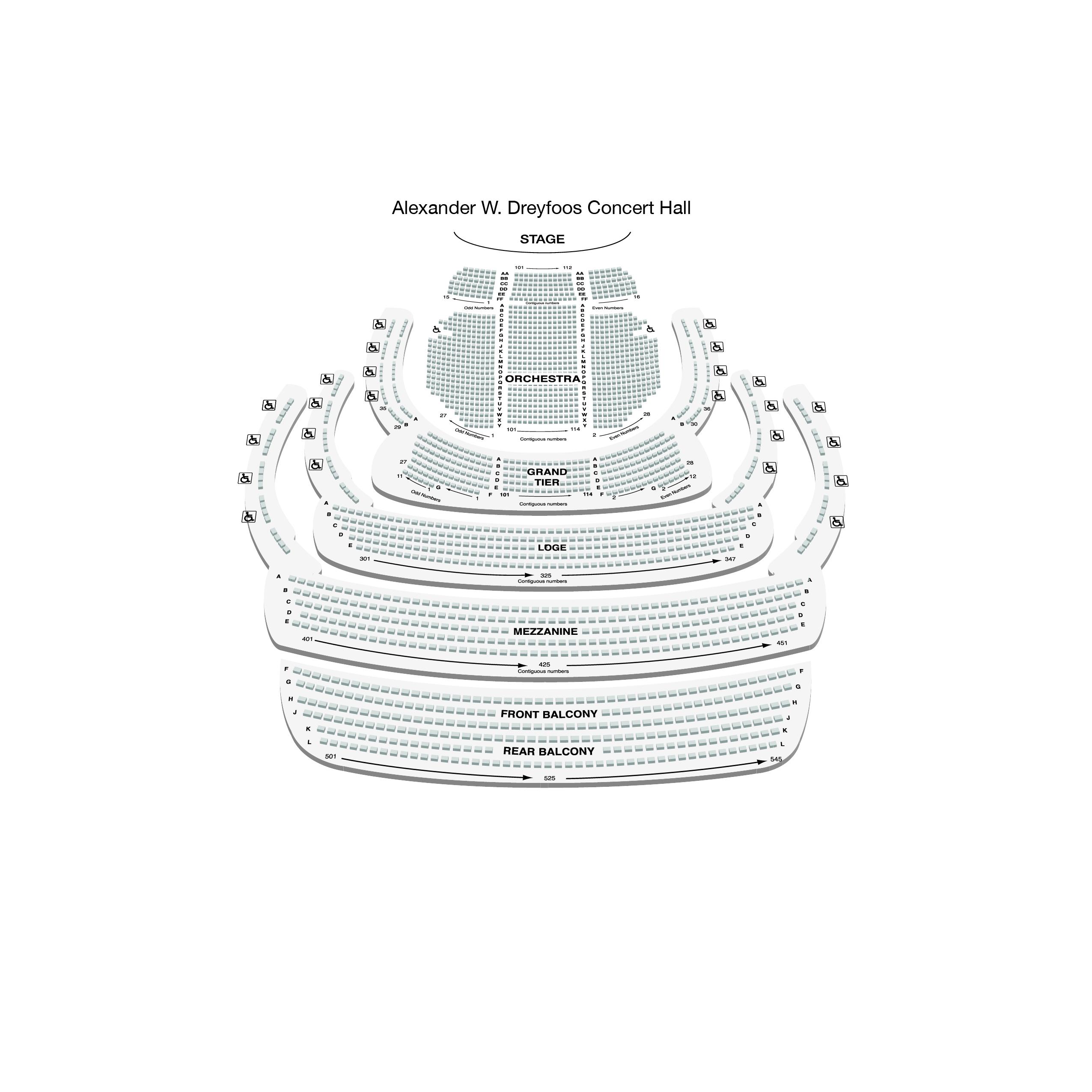 Alexander W. Dreyfoos Concert Hall - Non Premium