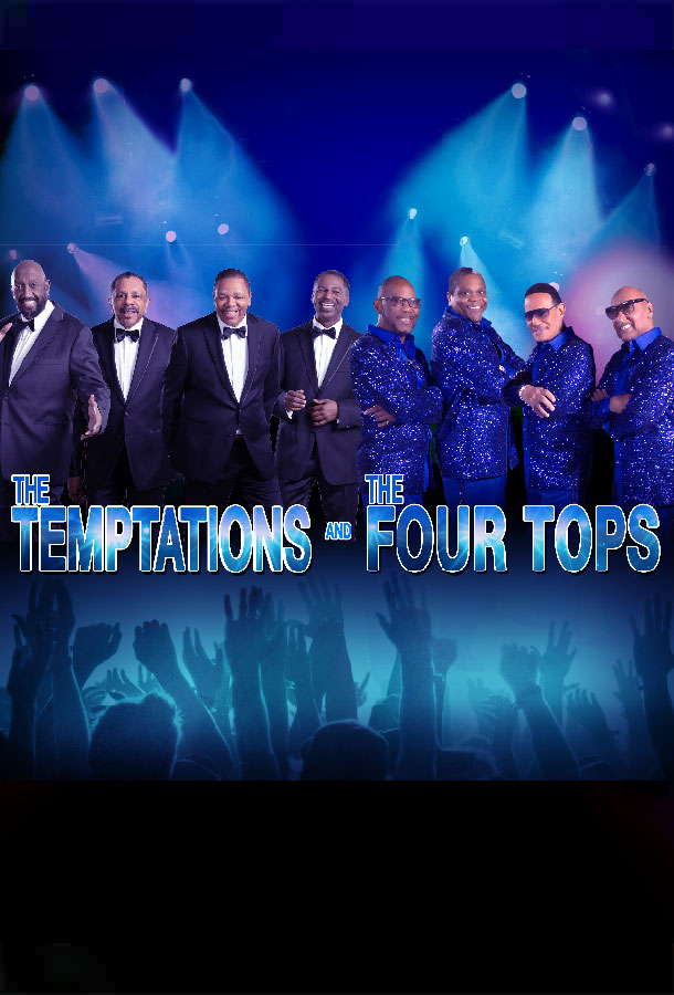 The Temptations and Four tops band members pose for camera