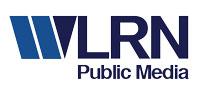 WLRN Public Media light blue and dark blue logo.